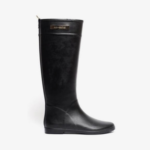 Minimalist Black Ankle Rain Boot